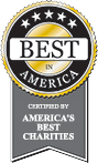 ribbon of certification for America's Best Charities
